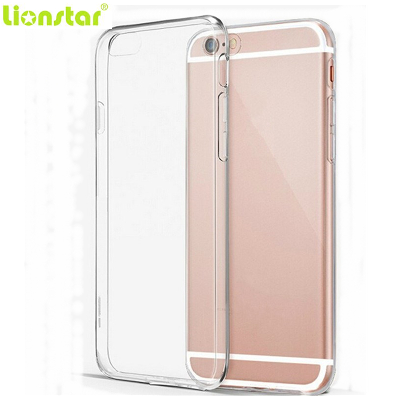 LIONSTAR Soft Clear TPU Case iPhone 5 5S SE 6 6S 7 8 Plus X Slim Crystal Back Protect Rubber Phone Cover Silicone Gel Cases