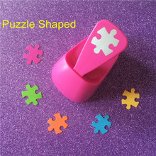 Free Shipping M size Puzzle shaped save power paper/eva foam craft punch Scrapbook Handmade punchers DIY hole punches puncher(China)