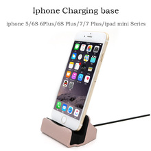 Quality For iPhone 5 5S SE 6 7 6s Plus 7Plus ipad mini Sync Data Charging Dock Station Desktop Docking Fast Charger USB Cable