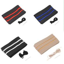 1PC Multi-Colors Select DIY Leather Car Auto Steering Wheel Cover With Needles And Thread Accessories Free Shipping