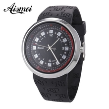 Aismei Brand creative waterproof Touch screen LED watch men and women lovers watch Rubber strap watches relogios masculino
