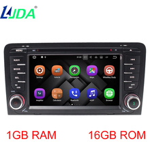 LJDA 2din Android 7.1 Car Multimedia DVD Player For Audi A3 2002-2011 S3 RS3 RNSE-PU Auto Radio GPS Navigation 1080 Bluetooth(China)