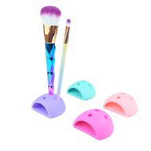 1 Piece Makeup Brush Cleaner Silicone Brushegg Cleaning Washing Brush Egg Glove Scrubber Cosmetic Make up Silicone Cleaner Tool
