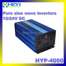 pure sine wave inverters HYP-4000 INPUT 12/24V 50/60Hz AC OUTPUT 4000w inverter Soft start Carton packing(China)