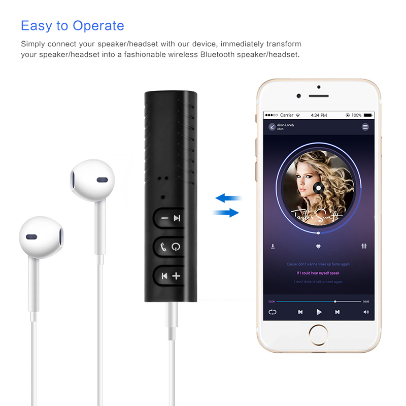 Bluetooth AUX 3.5mm Jack Bluetooth Receiver