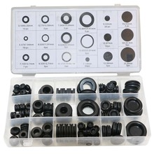 Hot sales Black 125Pcs Sealing Grommet Rubber O Ring Assortment Set Hydraulic Plumbing Gasket Paintball Seal Kit(China)