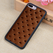Chocolate biscuits Printed Soft Rubber Mobile Phone Case OEM For iPhone 6 6S Plus 7 7 Plus 5 5S 5C SE 4 4S Back Cover Shell