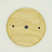 1PCS/LOT 120mm 1 Holder Pendant Lights Ceiling Plate Wooden wood ceiling base cover plate LED rope light DIY accessories part(China)