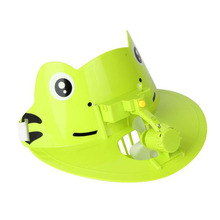 1pc Random Cartoon Animals Duck Frog Toy Sun Hat Children Summer Cooling Outdoor Portable Mini Electric Fan Birthday Gifts Funny