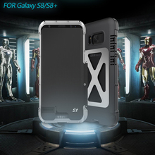 R-JUST Luxury doom armor Dirtproof Shockproof Metal cell phone case cover For SAMSUNG GALAXY S8 S8 Plus