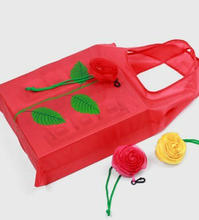 1PCS Fashion Shopping Bag Women Eco Reusable Folding Rose Flowers bag Travel Grocery Bags For  Shopping