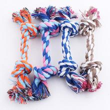 Hot Sell Double Knot Cotton Rope Cotton Braided Bone Rope Puppy Dog Pet Toy Trumpet Chew Knot Toy(China)