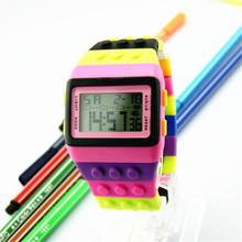 HOT Novel Design Unisex Colorful LED Electronic Sports Watch Digital Wrist Watch for Children Boys Girls Students Perfect gift