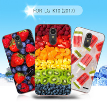 Gel Case for LG K10 (2017) Thin Soft TPU Protective Cover Mobile Cell Phone Cases for LG K 10 2017 Fruit Cherry