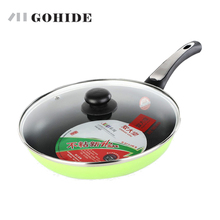GUH Super Honeycomb design flat bottom pot frying pan kitchen catering cooking pot pan with lid electromagnetic gas stove use