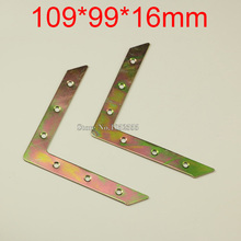 10PCS 109*99*16mm metal furniture corners angle bracket L shape frame board support fastening fittings K282