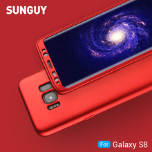 For Samsung Galaxy S8 Case, SUNGUY Soft TPU+PC Anti-Scratch Back+Front Full Protective Cover Case Shockproof & Drop Protection(China)