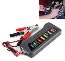 12V Auto Car Battery diagnostic-tool with 6 LED Test Lights Display Universal Motorcycle Battery Testing Tool Car Detector