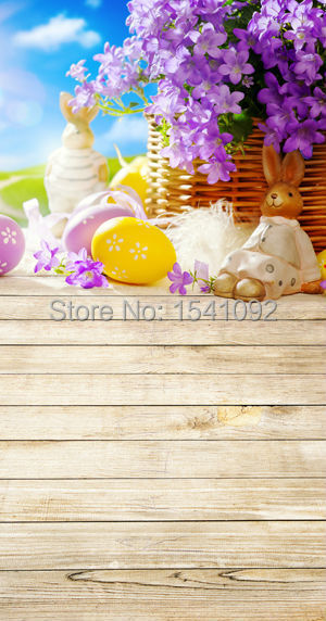 1.5X3M Customize vinyl photography backdrop newborn easter wood computer print  background for photo studio F088<br><br>Aliexpress