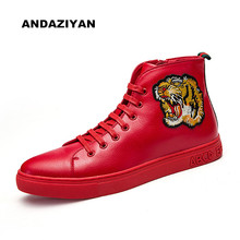 Fall men's shoes Korean casual male tiger head high to help shoes men Awake fashion trends(China (Mainland))