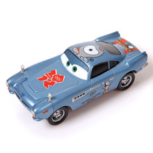 Pixar Cars Diecast Finn McMissile Metal Toy Car For Children 1:55 Loose Disney Paralympic Games London 2012 Alloy Car Model