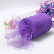 "Boutique  Soft 6""x100yd Tulle Roll Spool Wedding Craft Bridal   Party Decor 6""x300' New purple"