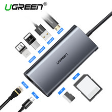 Ugreen USB HUB USB C к HDMI RJ45 Thunderbolt 3 адаптер для MacBook samsung Galaxy S9 huawei Коврики 20 P20 Pro Тип C USB 3,0 хаб(China)