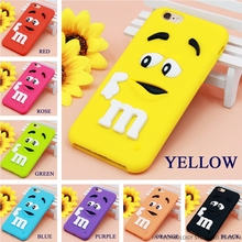 Cartoon M&M's Chocolate Candy Rubber Case For iPhone 6 6S 7 Plus 4 4S 5C SE 5 5S Best Quality Soft Silicone Back Cover Fundas