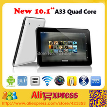 Promotion!! New Android 4.4 Allwinner A33 Quad Core 10 inch Tablet PC 1GB RAM 8GB ROM Dual Camera With Bluetooth