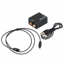 NEW DAC DA Digital Fiber To Analog Audio Converter Adapter Optic Coaxial Audio Signals R/L  Audio Output