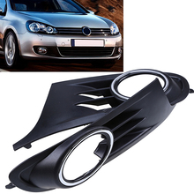 POSSBAY High Quality 1pair Car Front Bumper Lower Grille Fog Light Grills Cover For VW Golf MK6 2010-2014(China)