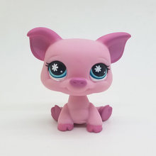Original 1pc LPS cute toys Lovely Pet shop animal Pink Pig Snow eyes action figure littlest doll