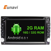 Quad Core  2 Din Pure Android 6.0 Car DVD Player Navigation Stereo Radio GPS WiFi 3G CAPACITIVE Touch Screen Back Camera Car PC