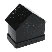 Creative House Shape Nightlight DIY Projector Star Zodiac Signs Audio Message Board House LED light Night Light Gift