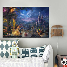 Poster and Print of Thomas Kinkade Oil Paintings Tangled ,Giclee Canvas  Cuadros Spray,wall pictures for living room home decor