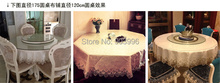 Hot SALE !!! SIZE:round 150cm-only 1pcs table cloth Free Shipping-Luxury european-style lace table cloths,