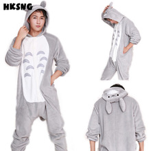 SAZAC Unisex High Quality Adults Winter Grey Japanese Totoro Footed Pajamas Onesies Pyjamas Kiguruma Cosplay Costumes(China)