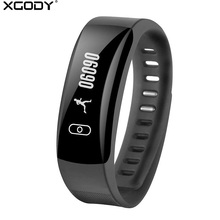 XGODY K8 Heart Rate Monitor Smart Bracelet Watch Pedometer Call Reminder Waterproof Fitness Tracker Smart Band Slim Wristband(China)