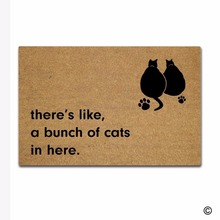 Funny Printed Doormat Entrance Floor Mat There's, Like A Bunch Of Cats In Here Non-slip Doormat 23.6 by 15.7 Inch Machine Washab(China)