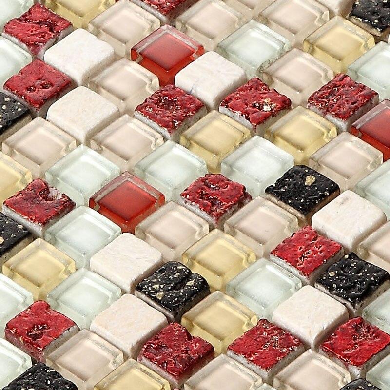 decoracin de interiores azulejo de mosaico de piedra de cristal para la sala de estar tv