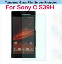 For Sony Xperia C S39h C2305 C 2305 2305 Tempered Glass Clear Front Screen Protector Case 0.26mm 2.5D Arc 9H With Retail Package