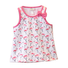 Brief Baby Girls Summer Dress None Sleeve Full Cotton Brand Girls Clothes Cheap Price Good Quality Guranteed Cotton Outfit(China)