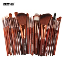 MAANGE Pro 22Pcs Makeup Brushes Set Comestic Powder Foundation Blush Eye Shadow Eyeliner Lip Beauty Make Up Brush Tool Maquiagem(China)