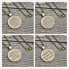 Conles of Narnia Quote Necklace Keyring Aslan, C. S. Lewis Wrong Will Be Right keychain(China)