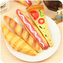 2017 New Black Funny Pizza Ball Pen creative Simulation Bread BallPoint Pens Stationery Canetas escolar material school supplies(China)