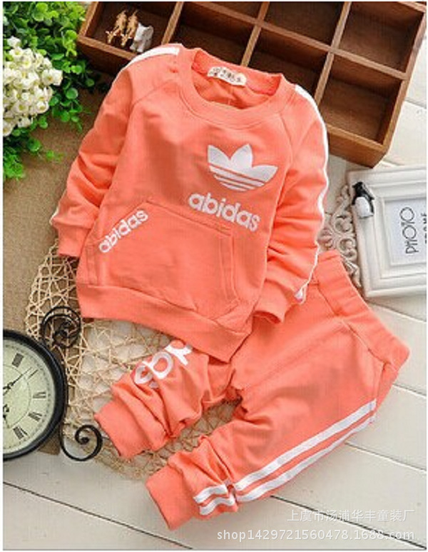 2017 new children clothing set baby boy spring&amp;autumn casual letter abidas top+pants twinset sport set for kids 0-4Y<br><br>Aliexpress