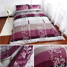 USA Russian Europe Size Bedding Sets Soft Duvet Cover Set Purple Quilt Cover Luxury Bedding Bedclothes Queen Double Customized(China)