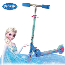 Frozen 3-10 ages kid scooter with light up wheels and rear brake folding baby 2 Wheel Scooter trottinette