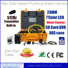 Pipe Camera Inspection With Sonde 50M Cable Pipe Locator Meter Counter DVR Keyboard,Pipe Inspection System Drain Sewer,ABS Case