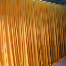 gold wedding decoration elegant wedding backdrops 3 m x 6  meter length wedding background gold curtain event party hotel decor